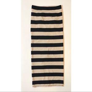 Womens Free People Striped Maxi Skirt Size Medium